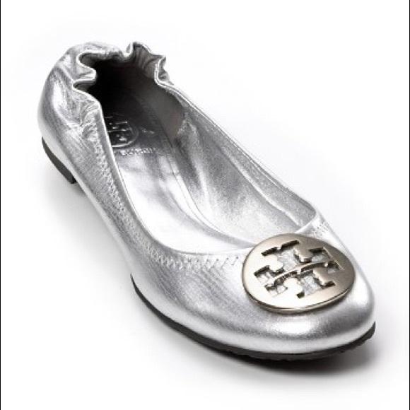 Silver Metallic Reva Flats | Poshmark